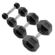 Body-Solid Hexagon Rubber Dumbbell set Gewicht: 3 kg zwart