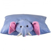 Ultra Folding Pillow Elephant 18x13 Inches - Blue
