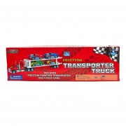 Friction Transporter Truck & 6 Race Cars Mega Machines