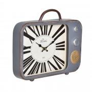 Стенен часовник [en.casa]® Античен телевизор -с аналогови стрелки - 33 x 5 x 27 см. - цветен - стъкло