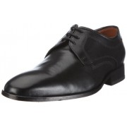 Clarks Men's Dexie Plain Black Leather Formals and Lace-Up Flats - 10 UK