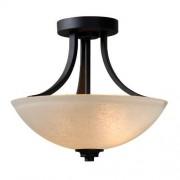 Kenroy Home DynastyLight Lámpara semiempotrada, dos luces, semiempotrado, bronce (Burnished Bronze Finish)