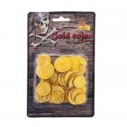 Merkloos Piraat munten goud 50 stuks