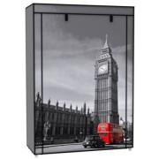 Vászon tároló szekrény ruhás 158 x 45 x 105 cm Big Ben