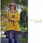 Warp Zone mustár színű tunika