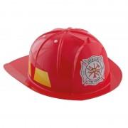 Merkloos Rode brandweerhelm verkleed accessoire voor kinderen