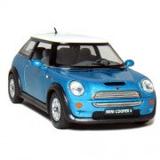 Kinsmart 1:28 Scale Mini Cooper, Blue
