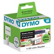 Dymo LW Multi-purpose Labels 99015 Black on White 54 mm x 70 mm 320 Labels