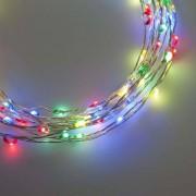 e-Led Light Catena in metallo 80 Microled Multicolore per interno con controller memory