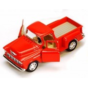 1955 Chevy stepside Pickup Truck, Orange - kinsmart 5330/6d - 1/32 Scale diecast Model Toy car (Brand New, but no Box)