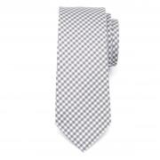 pentru bărbați îngust cravată din microfibre (model 1267) 7972 cu alb-gri zaruri
