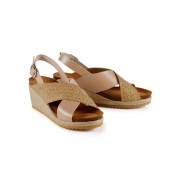 Walbusch Keil-Bast-Sandale Gelb 41