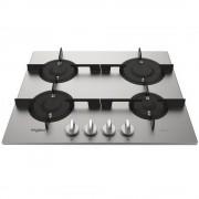 Plita incorporabila Whirlpool PMW 64D2/IXL, Gaz, 4 arzatoare, Suporturi fontă, 60 cm, Inox iXelium