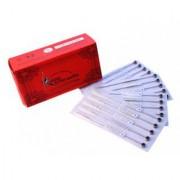 Mumbai Tattoo Katana Tattoo Disposable Round Liner Round Shader Needles Mix Box Needles - 1RL 3RL 5RL 3RS 5RS Color Red (Pack of 50)