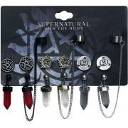 Supernatural Symbole Ohrhänger-multicolor - Offizieller & Lizenzierter Fanartikel Onesize Damen