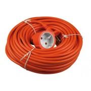 Verlengsnoer oranje 20M 2x1,0mm² voor binnen zonder randaarde