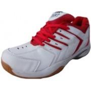 Port Super Spark Sports Badminton Shoes (White) Badminton Shoes(Red)