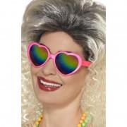 Roze hartjes feestbril