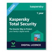 Kaspersky Total Security (KTS) 5 Devices | 1 Year - Digital Licence - 5 / 1