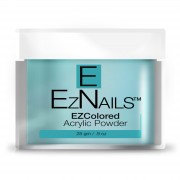 EzNails - Acryl - Acrylic Pastel Colored Powders - Tidal Teal - 28 gr