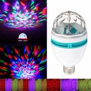 E27 3W 3-LED RGB de control de sonido de cristal fiesta luz lampara de etapa - blanco