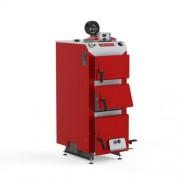 Cazan pe lemn din tabla otel, 35 kW, KDR Plus Agro 3, Defro, cu ventilator, grosimea tablei 6 mm