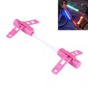 Bicycle Glo-sticks Light Strip Lamp Safety Warning LED Light Side Light with Lighting / Fast Flashing / Slow Flashing Modes(Pink)