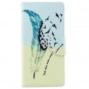 Bolsa tipo Carteira Wonder Series para Sony Xperia XA1 Plus - Pássaros
