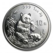 Panda Stříbrná mince 10 Yuan China 1 Oz 1996