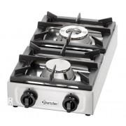 Gas kooktafel | 2 branders | 9 Kw | 350x660x(h)170mm