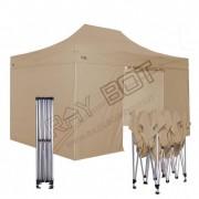 ray bot Gazebo pieghevole 3x4,5 beige Exa 45mm TOP alluminio con laterali PVC 350g