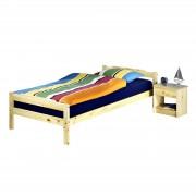 IDIMEX Einzelbett MORITZ, natur lackiert 90x200cm