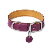 Timberline lila bőr kutya nyakörv M méret