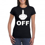 Shoppartners Fuck off t-shirt zwart voor dames