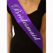 Bighub Bridesmaid, 1 Pc : GOOTRADES 1 Pc Purple Hen Night Sash Party Sashes Do Accessories Bride To Be Out Girls Deluxe Bling (Bridesmaid)