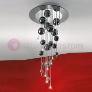 Lam Export Bubbles Plafoniera A Soffitto Con Sfere In Vetro Soffiato H.90 Design Moderno