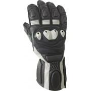 Bores Rider Leather Gloves Black White M L