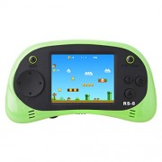Handheld Game Console for Children Built in 260 Classic Old Video Games Retro Arcade Gaming Player Portable Playstation Boy Birthday or Christmas Gift 8 Bit Rechargeable (Green)