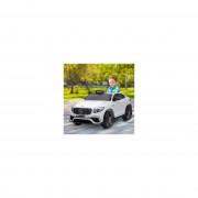 HOMCOM® Kinderfahrzeug Kinderauto Elektroauto Mercedes-Benz Fernbedienung MP3 3–8 Jahre PP Weiß 115 x 70 x 55 cm