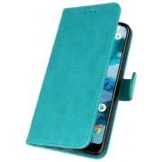 Bookstyle Wallet Cases Hoesje voor Nokia 8.1 Groen