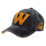 Unisex de moda W Gorra de beisbol de la vendimia - Negro + Naranja
