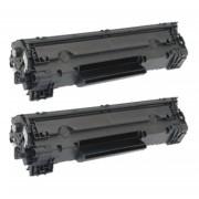 HP 2x HP 83A (CF283A) toner zwart (huismerk toners)
