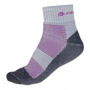 ALPINE PRO MACCKO Unisex ponožky USCH019411 fuchsiová XS