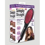 s4d Simply Straight Ceramic Straightening Brush - (Hair Straightener Curler and Styler - MutliColor)0