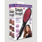 s4d Simply Straight Ceramic Straightening Brush - (Hair Straightener Curler and Styler - MutliColor)0