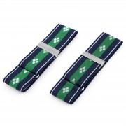 Tailor Toki Blå och Gröna Klövermönstrade Ärmhållare
