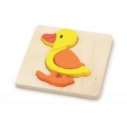 Viga drvene puzzle 4 dijela patka