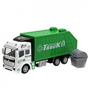 Bighub Garbage truck : CYNDIE 1:48 Pull Back Alloy ABS Metal Car Model Construction Trucks Toy Diecast Vehicle for Kids Birthday Holiday Gifts