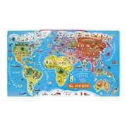 Janod Spanish Version Magnetic World Map