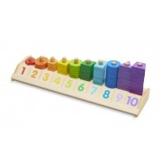 Melissa & Doug Counting Shape Stacker Toy